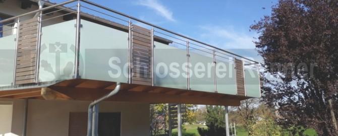 Balkongelander Aus Edelstahl Glas Und Holz Schlosserei Renner